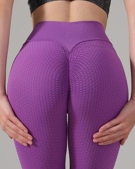 Textured Seamless Butt Lifting High Waist Sports Leggings gallery 5