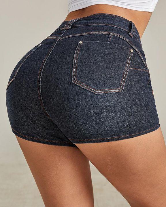 Vintage Butt Lifting Denim Shorts  gallery 5