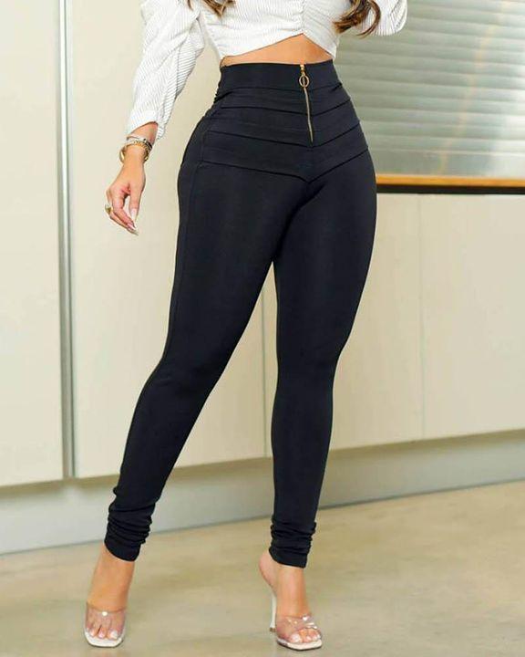 Half Zip Ruched Butt Lifting High Waist Pants gallery 1