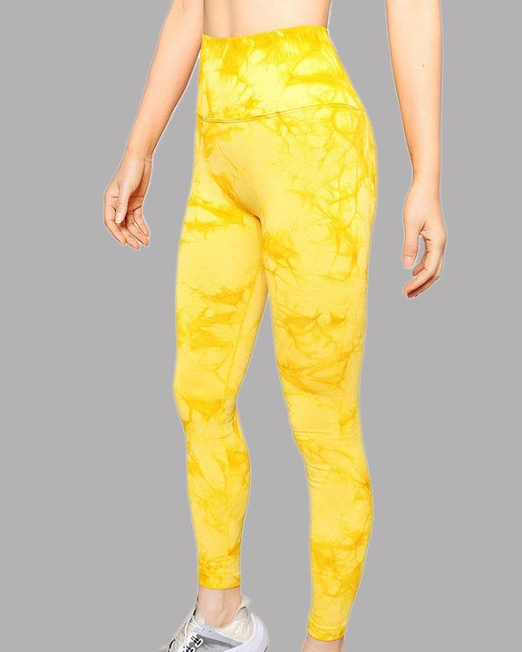 Tie Dye Wide Waistband Butt Lifting Absorbs Sweat Sports Leggings gallery 10