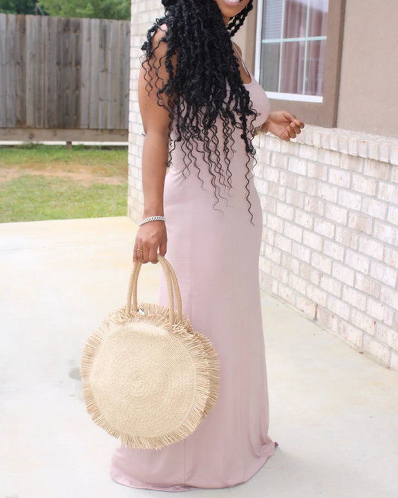 Solid Color Sleeveless Maxi Dress gallery 11