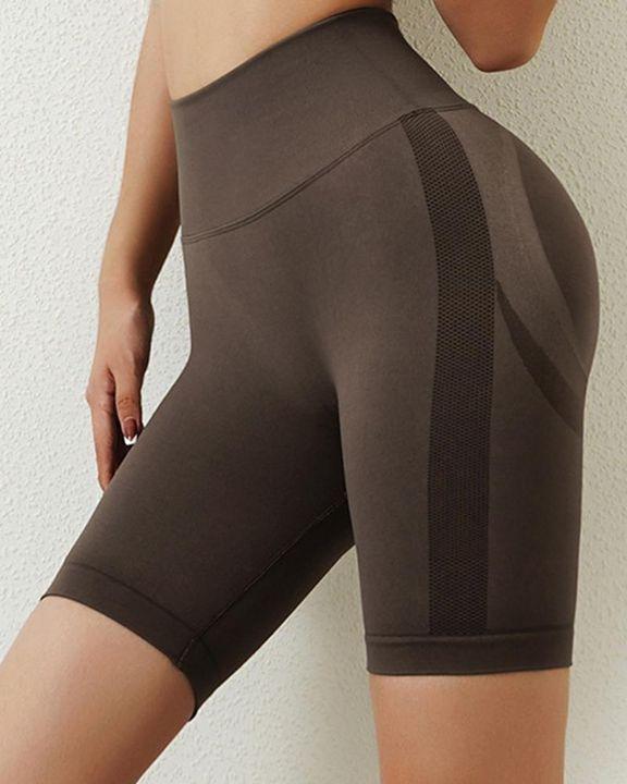 Solid Butt Lifting High Waist Sports Shorts gallery 16