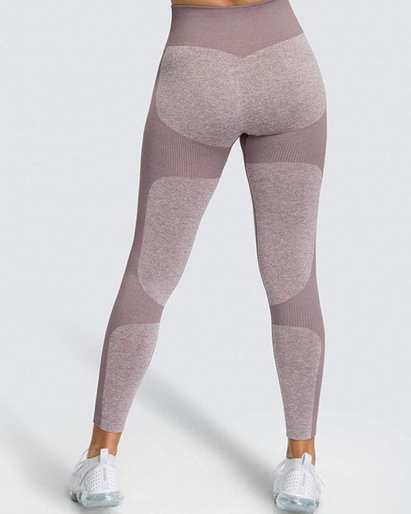 Space Dye Butt Lifting Seamless Absorbs Sweat Sports Leggings gallery 19