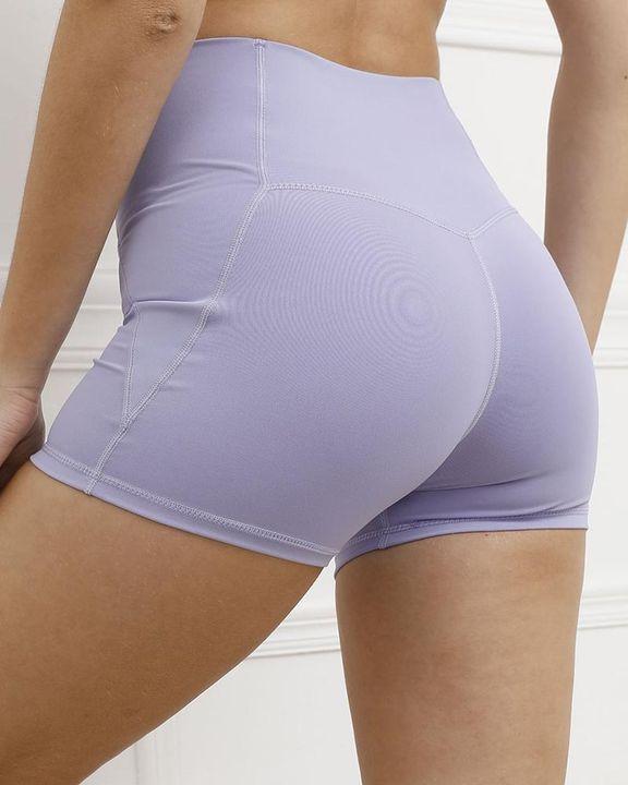 Pocket Decor Wide Waistband Butt Lifting Sports Shorts gallery 8