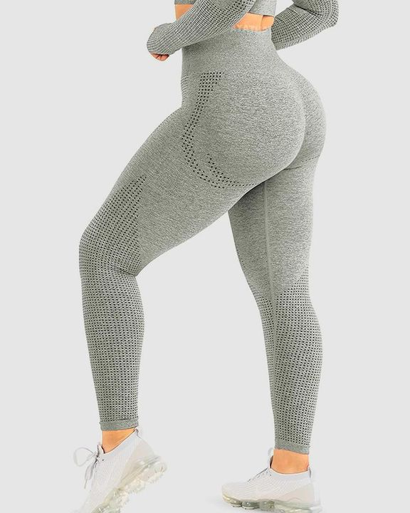 Hollow Out High Rise Butt Lifting Sports Leggings gallery 2