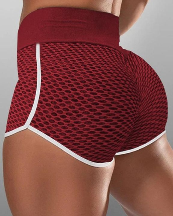 Contrast Binding Textured Sports Shorts gallery 1