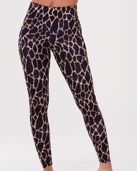 Tie Dye & Leopard Print High Waist Sports Leggings gallery 3