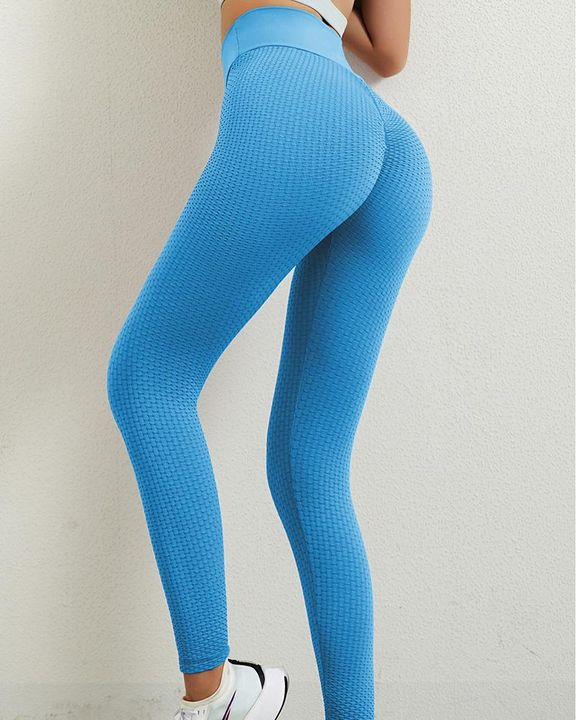 Solid Textured Butt Lifting Leggings gallery 18