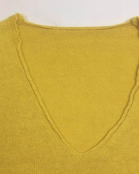 Solid Rib-knit Drop Shoulder Sweater gallery 10