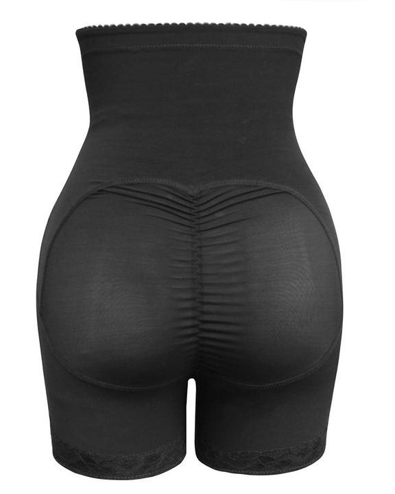 Solid Buckle Front High Waist Shapewear Shorts gallery 6