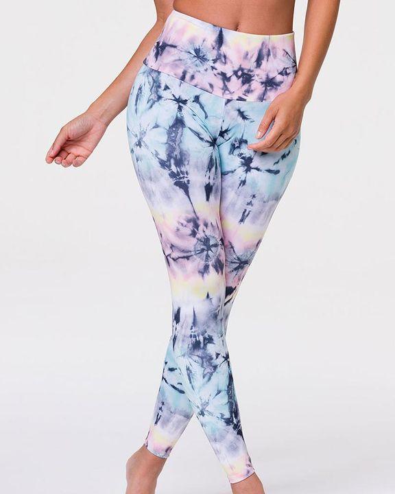 Tie Dye & Leopard Print High Waist Sports Leggings gallery 4