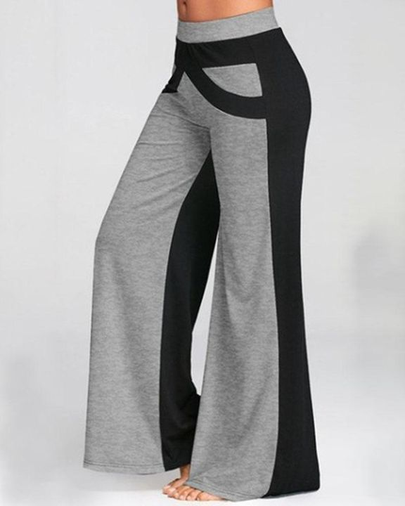Colorbock Mid Waist Wide Leg Pants gallery 1