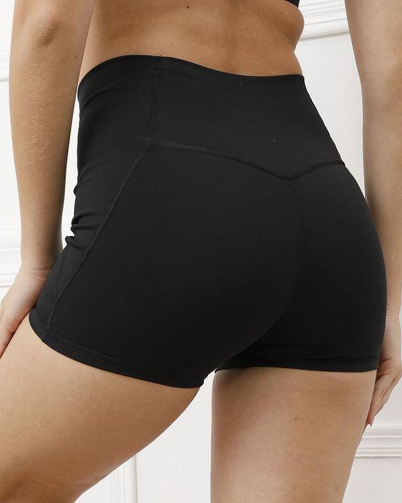 Pocket Decor Wide Waistband Butt Lifting Sports Shorts gallery 16