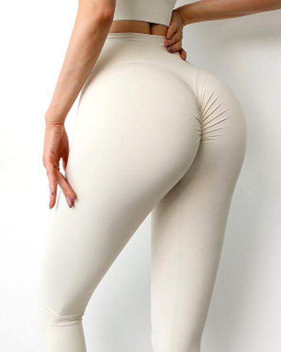 Wide Waistband Scrunch Butt Hip Lift Sports Leggings gallery 10