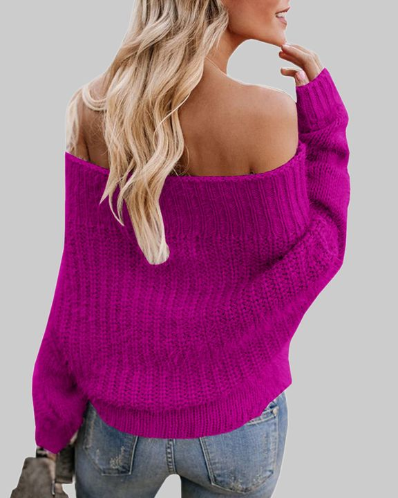 Chunky Knit Off Shoulder Sweater gallery 9