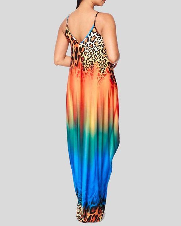 Ombre Leopard Print Cami Maxi Dress gallery 6