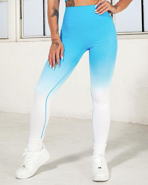 Ombre Wide Waistband Butt Lifting Sports Leggings gallery 16