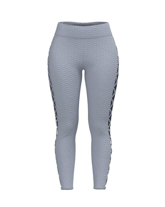 Lace Up Side Textured Ruched Sports Leggings gallery 10