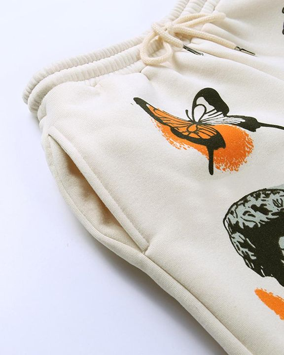 Cartoon Print Drawstring Front Pocket Detail Sports Pants gallery 9