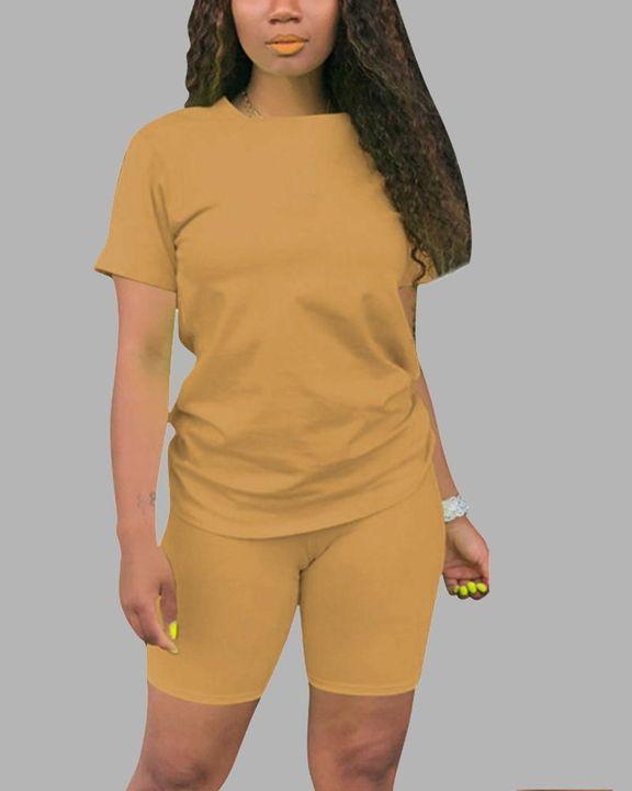 Round Neck Short Sleeve Top & Shorts Set gallery 9