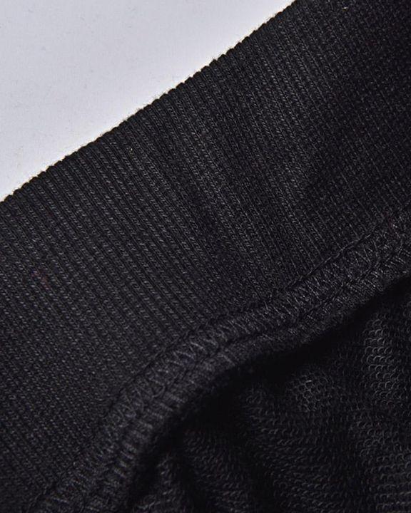 Queen & Letter Print Drawstring Kangaroo Pocket Front Hooded Top & Pants Set gallery 4