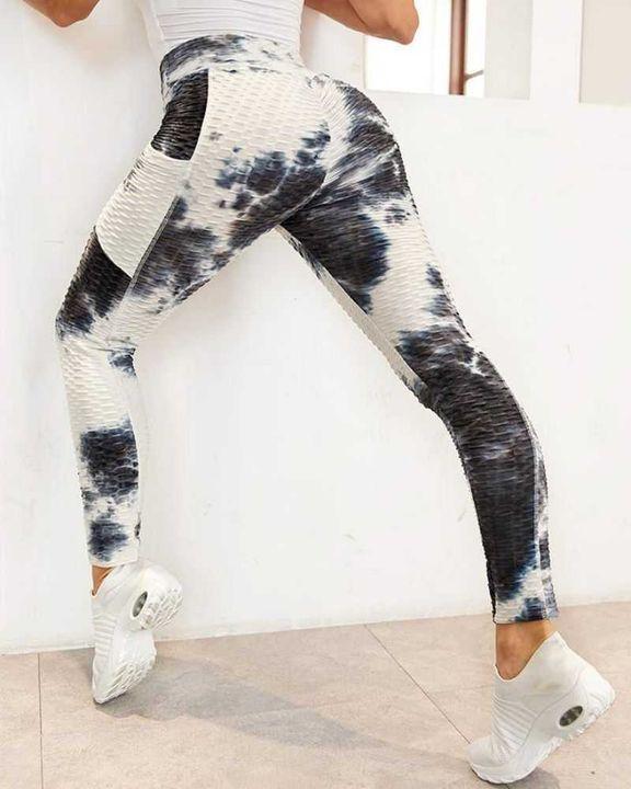 Tie Dye Textured Pocket Side Sports Leggings gallery 4
