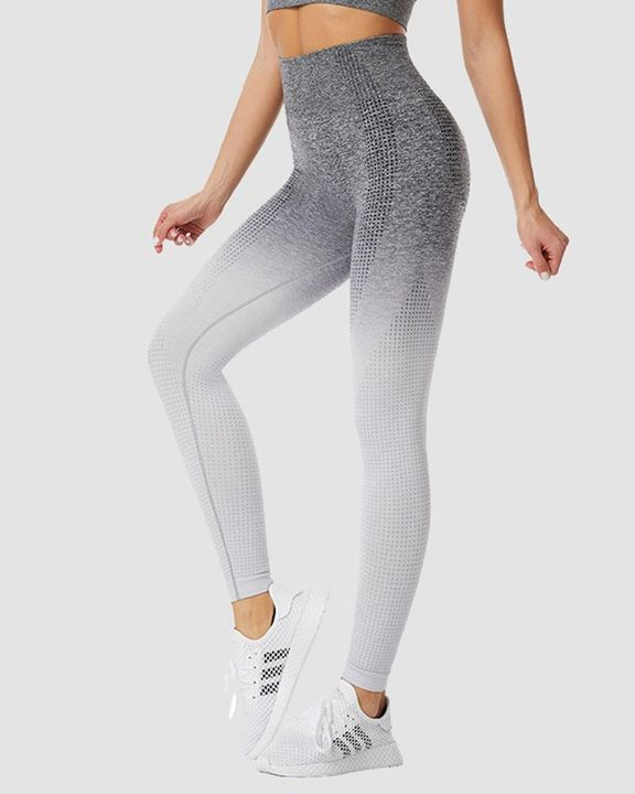 Ombre Breathable High Waist Butt Lifting Sports Leggings gallery 1