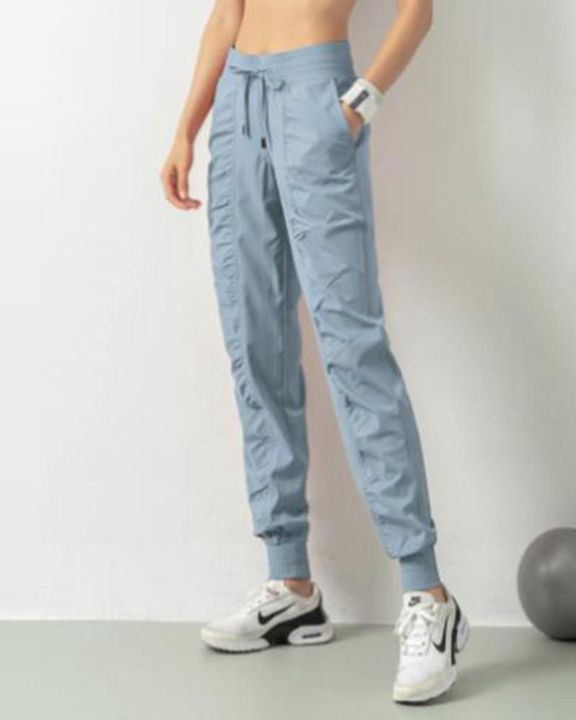 Quick Dry Drawstring Waist Ruched Front Sports Pants gallery 10