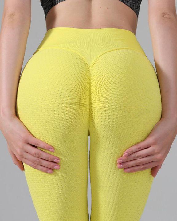 Textured Seamless Butt Lifting High Waist Sports Leggings gallery 2