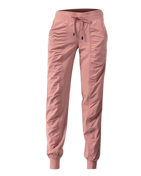 Quick Dry Drawstring Waist Ruched Front Sports Pants gallery 5