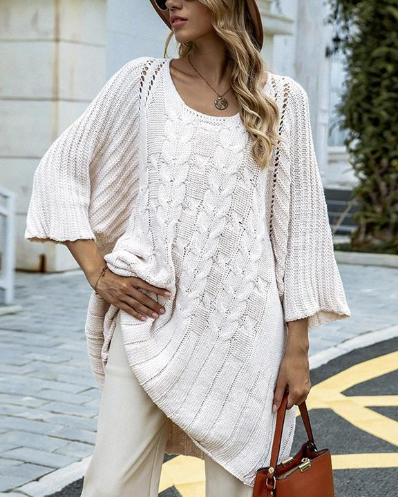 Chunky Knit Round Neck Sweater gallery 1