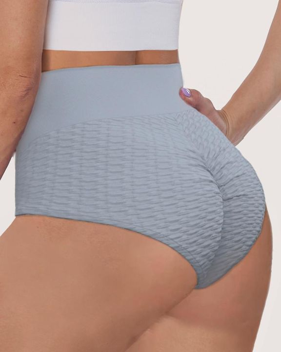 Solid Textured Ruched Sports Shorts gallery 1