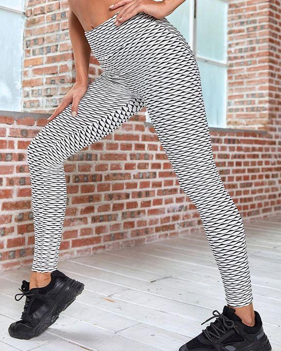 Allover Print Wide Waistband Butt Lifting Sports Leggings gallery 2