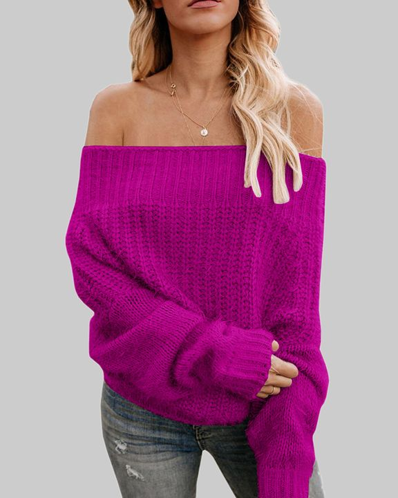 Chunky Knit Off Shoulder Sweater gallery 3