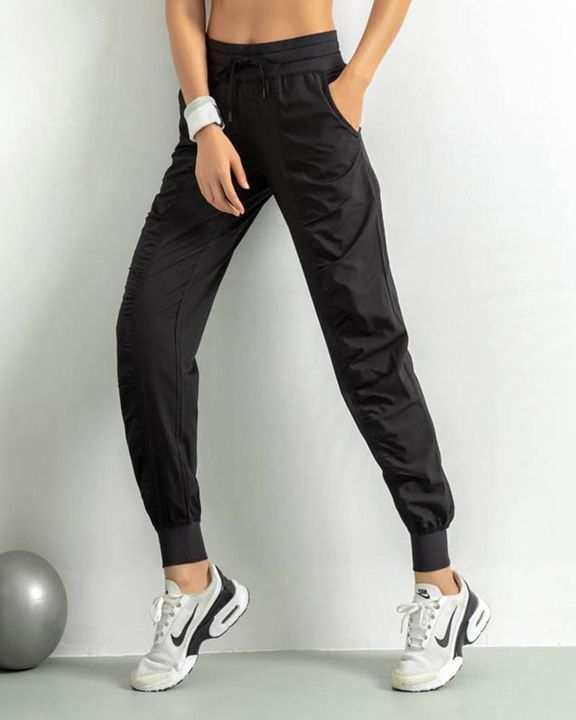 Quick Dry Drawstring Waist Ruched Front Sports Pants gallery 6