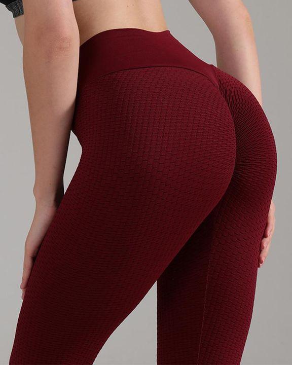 Textured Seamless Butt Lifting High Waist Sports Leggings gallery 10
