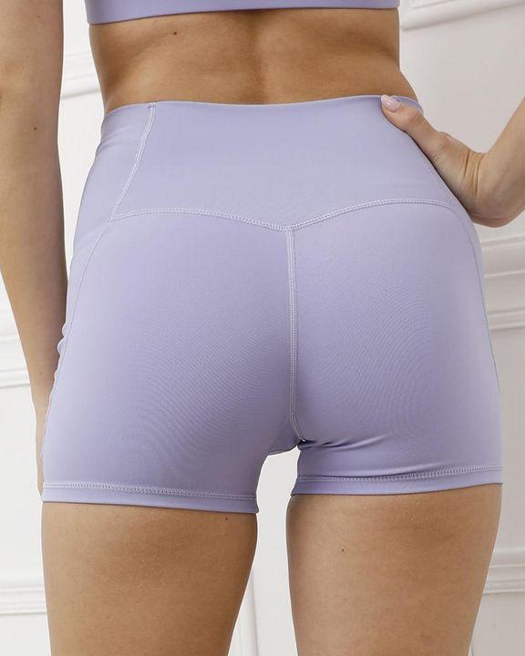Pocket Decor Wide Waistband Butt Lifting Sports Shorts gallery 9