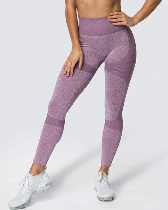 Space Dye Butt Lifting Seamless Absorbs Sweat Sports Leggings gallery 2