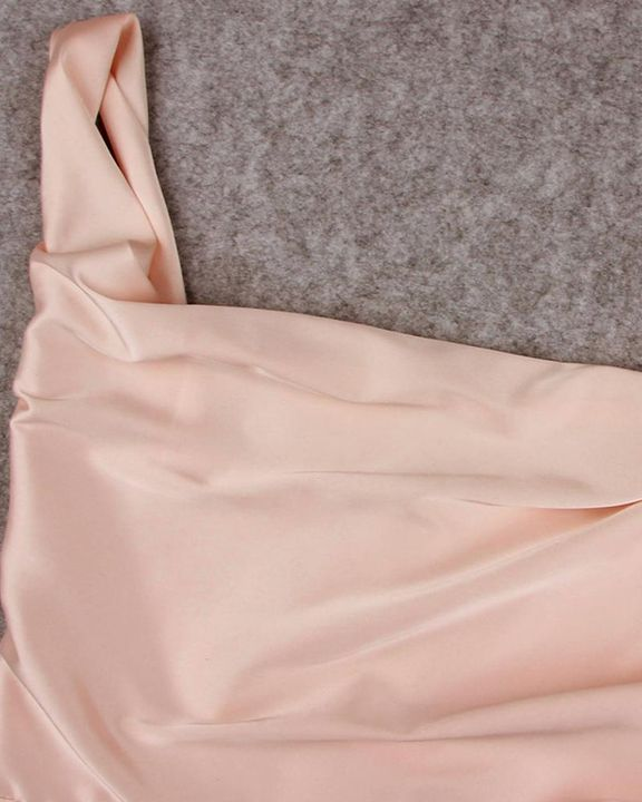 Solid Draped Split Hem Bodycon Knee Length Dress gallery 7