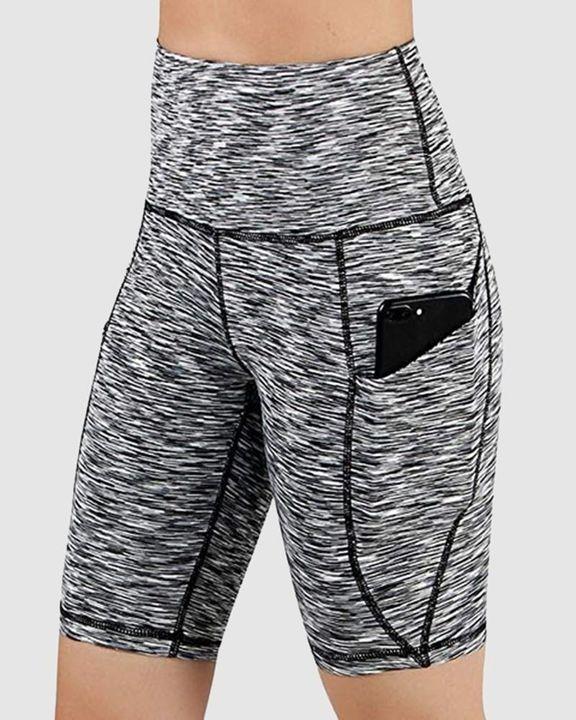 Stitch Trim Pocket Detail High Waist Sports Shorts gallery 3