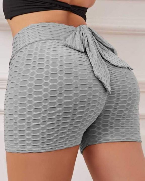 Bow Tie Textured Butt Lifting Sports Shorts gallery 13