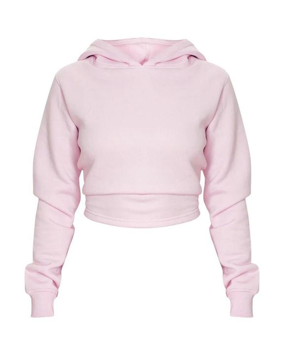 Lace Up Hollow Out Back Crop Hoodie gallery 8