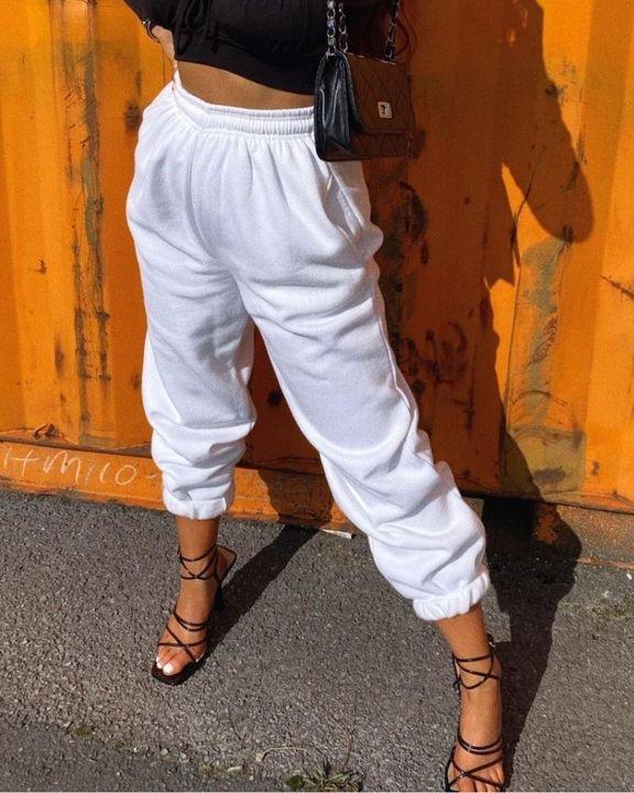 Slant Pokcet Elastic Waist Straight Leg Sports Pants gallery 6