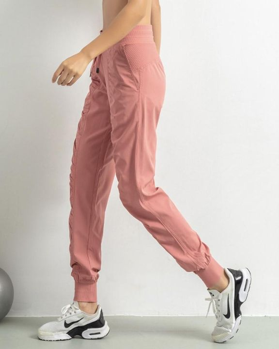 Quick Dry Drawstring Waist Ruched Front Sports Pants gallery 4