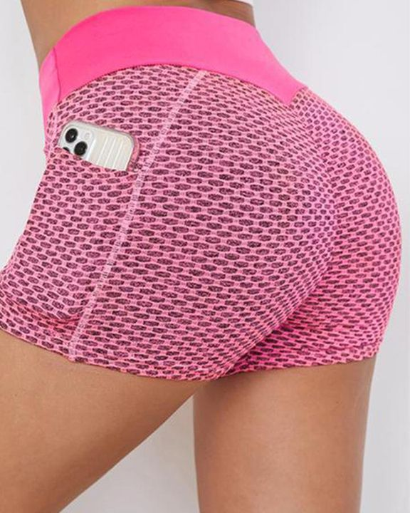 Textured Butt Lifting Sports Shorts gallery 1