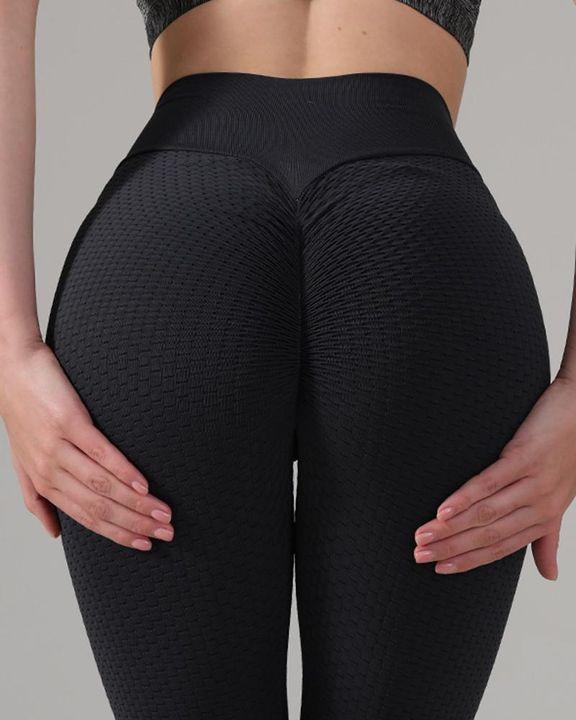 Textured Seamless Butt Lifting High Waist Sports Leggings gallery 7