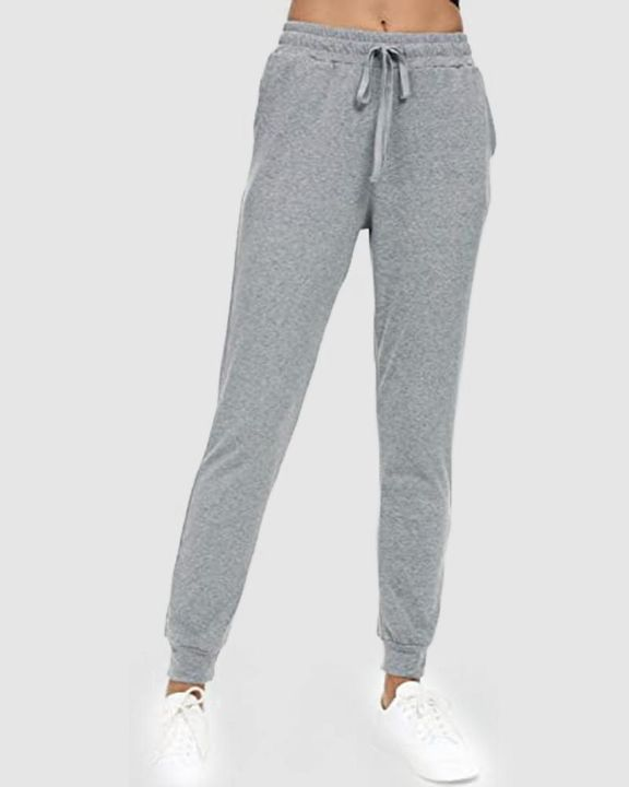 Solid Drawstring Front Pocket Detail Sports Pants gallery 2
