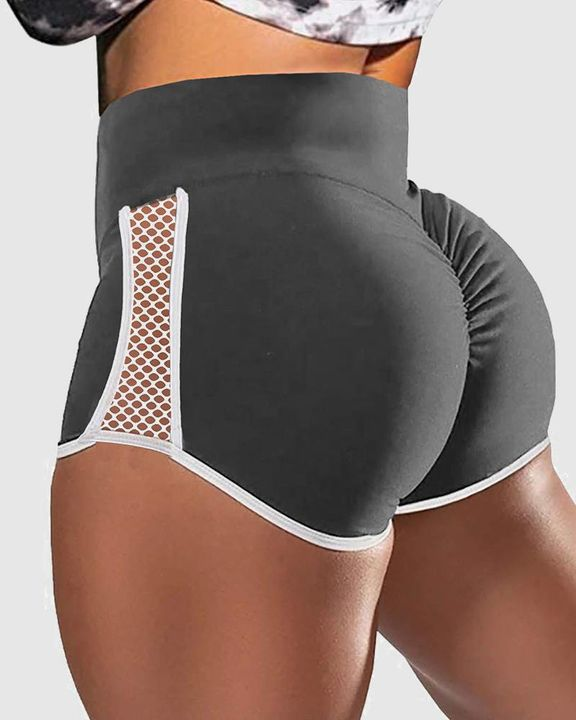 Hollow Out Side Scrunch Butt Sports Shorts gallery 5