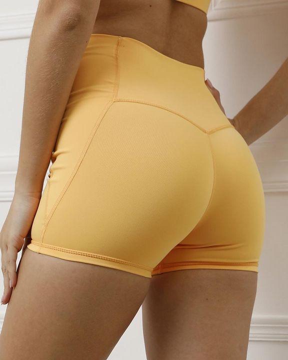 Pocket Decor Wide Waistband Butt Lifting Sports Shorts gallery 20