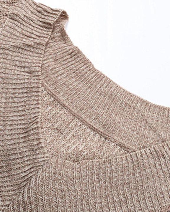 Drop Shoulder Oversized Sweater gallery 5